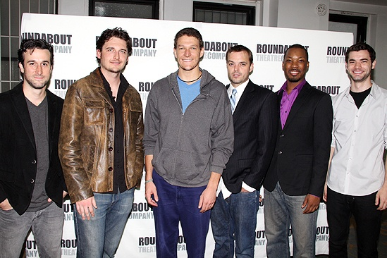 The cast of Suicide Incorporated - Roundabout Theatre Company