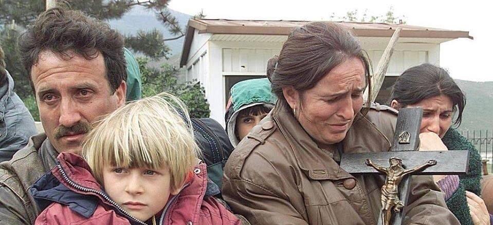 Albanian Christian Refugees Fleeing During the War