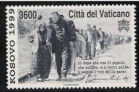 A Vatican Stamp Depicting Those Forced to Flee Kosovo