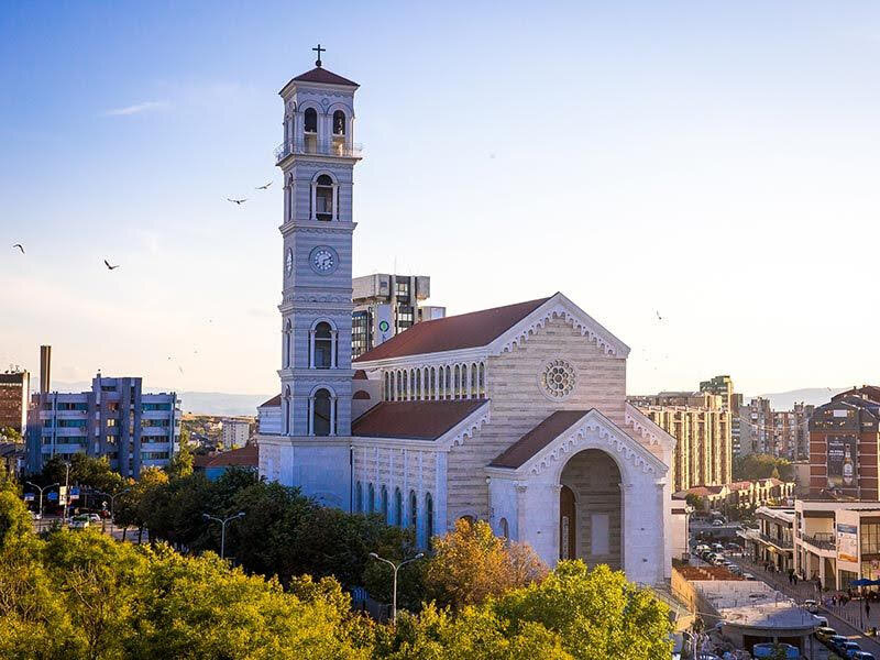 The Catholic Cathedral of Prishtina