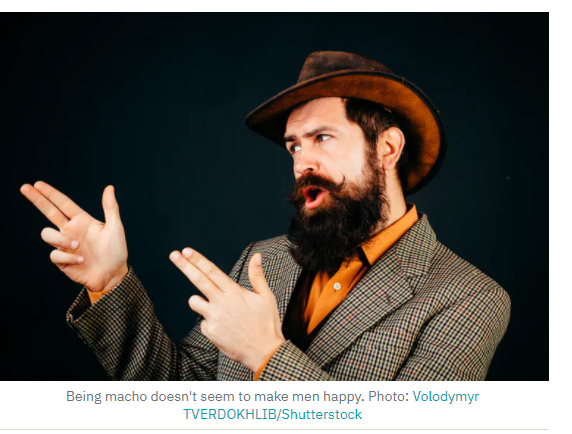 RTE used this image as an example of a 'macho man'