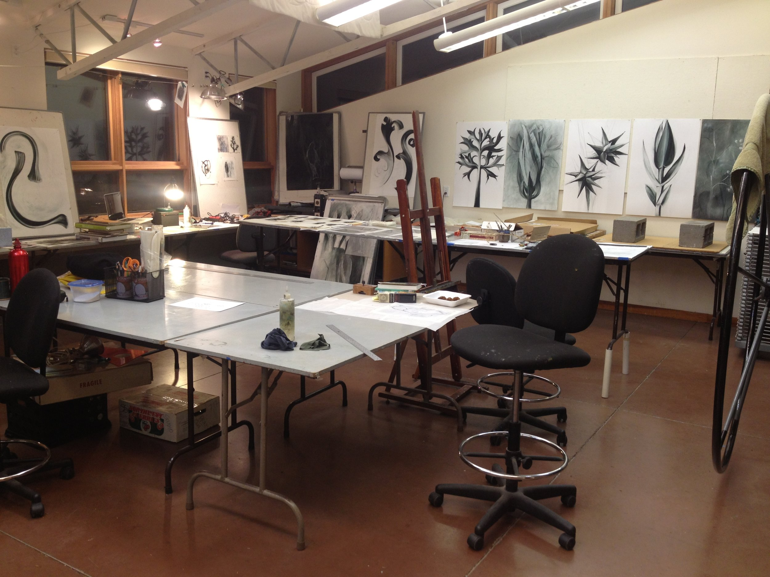 drawings and prints, sitka center for art and ecology residency, 2017