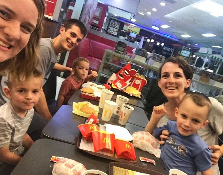 Trying to stay in touch with our American roots by celebrating Thanksgiving at McDonalds.