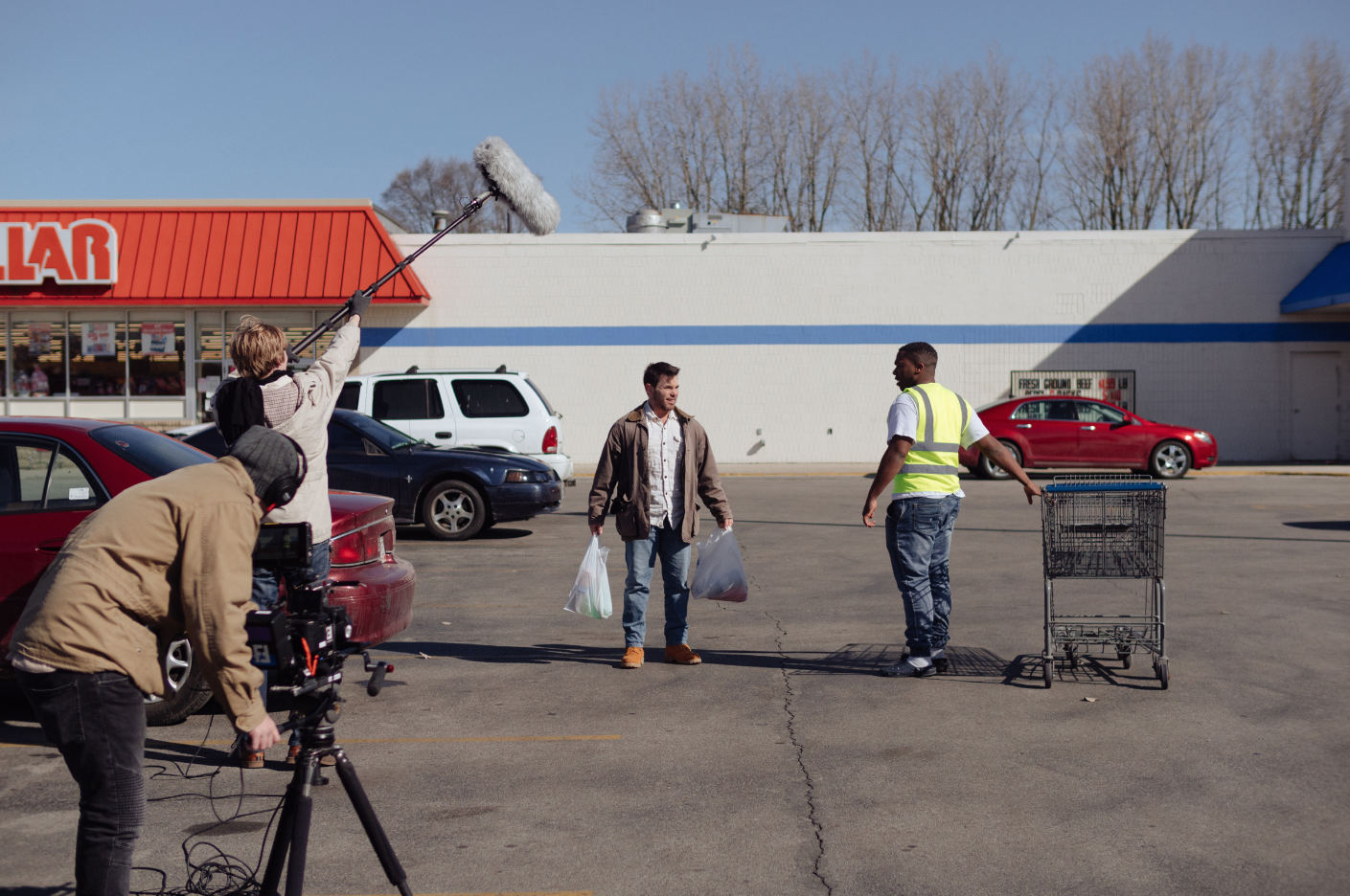 On set of  Palace  in Gas City, Indiana