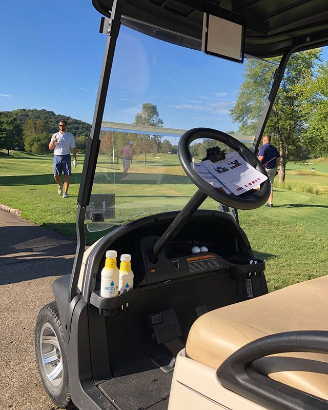 Upgrade your golf game (and ⛳️ cart). #drinkrecover