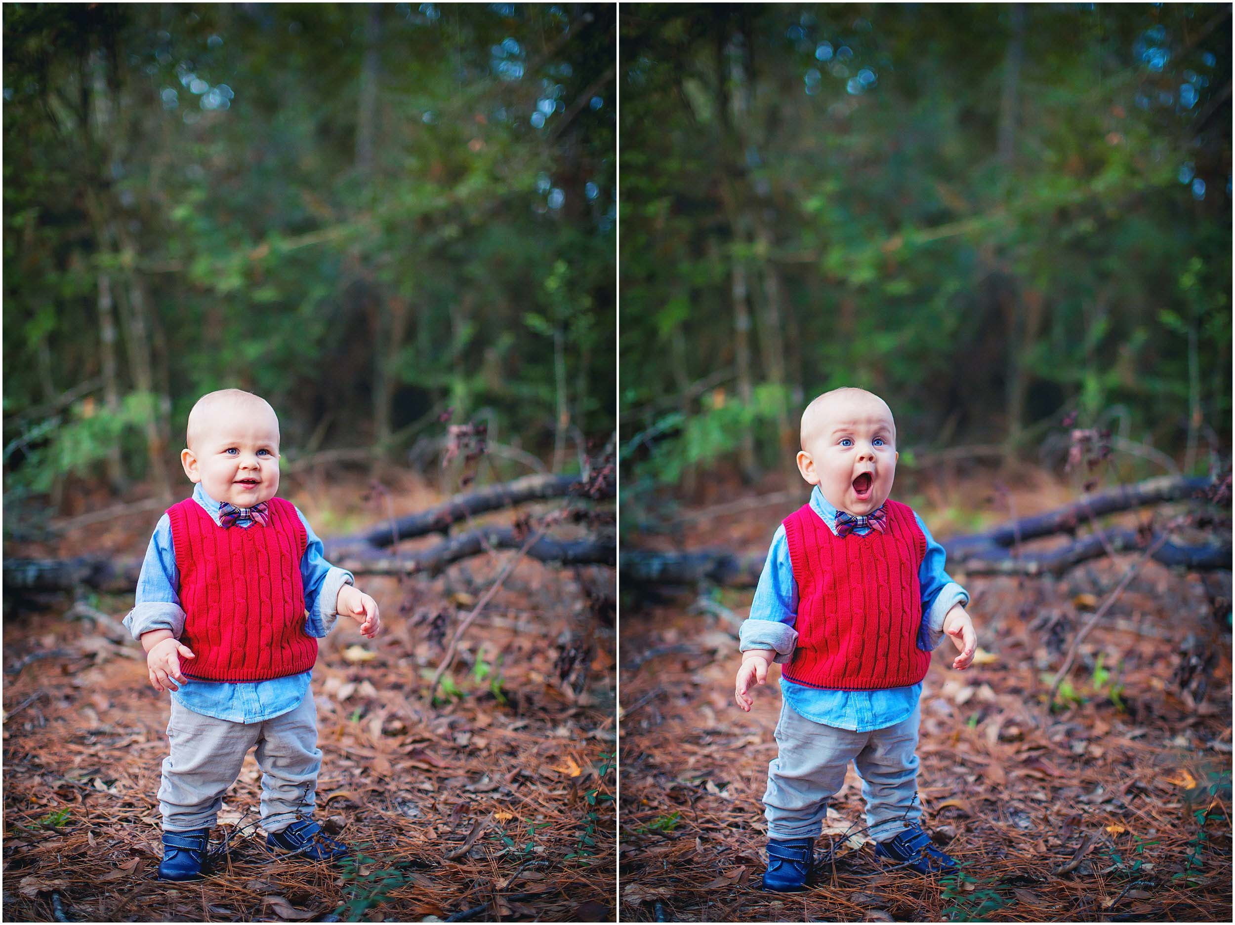 Outdoor portrait of adorable toddler in The Woodlands, Texas by spryART photography.