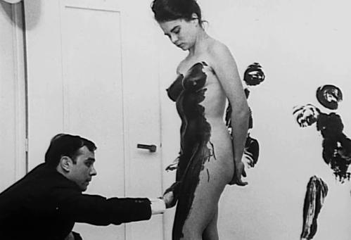 Yves Klein painting model, 1962