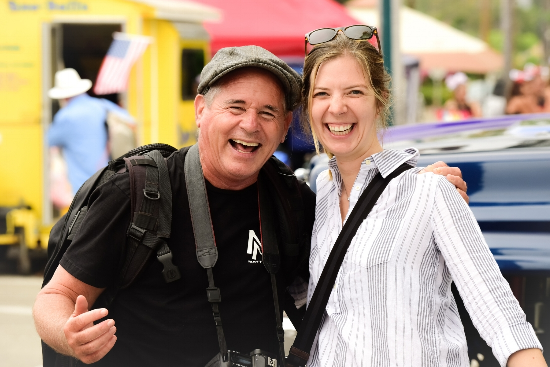 David Powdrell and Stefanie Herrington at the Rods & Roses Festival in Carpinteria, California, on June 30, 2018. Photograph by  Glenn Dubock .