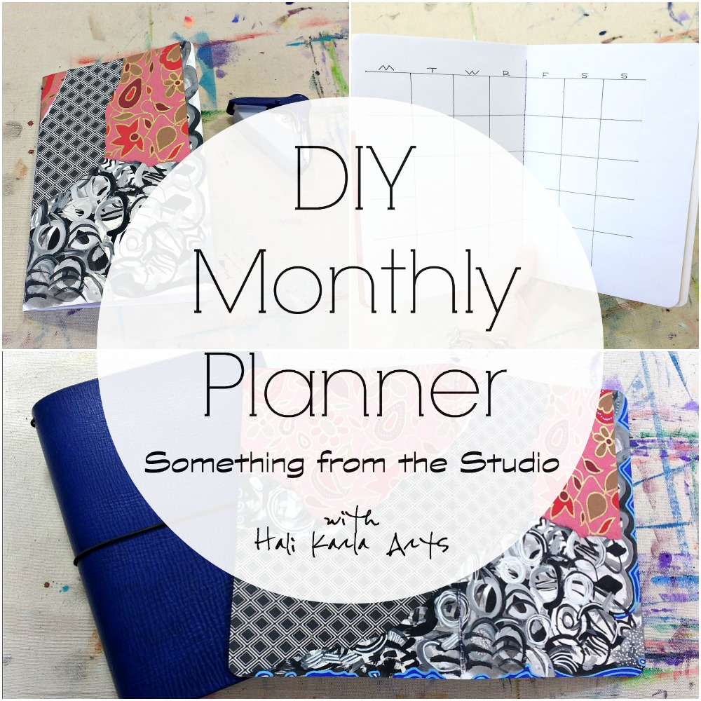 My DIY mixed-media Monthly Planner for 2018 - a peek and video in my traveler's notebook, handmade calendars, and bullet journaling