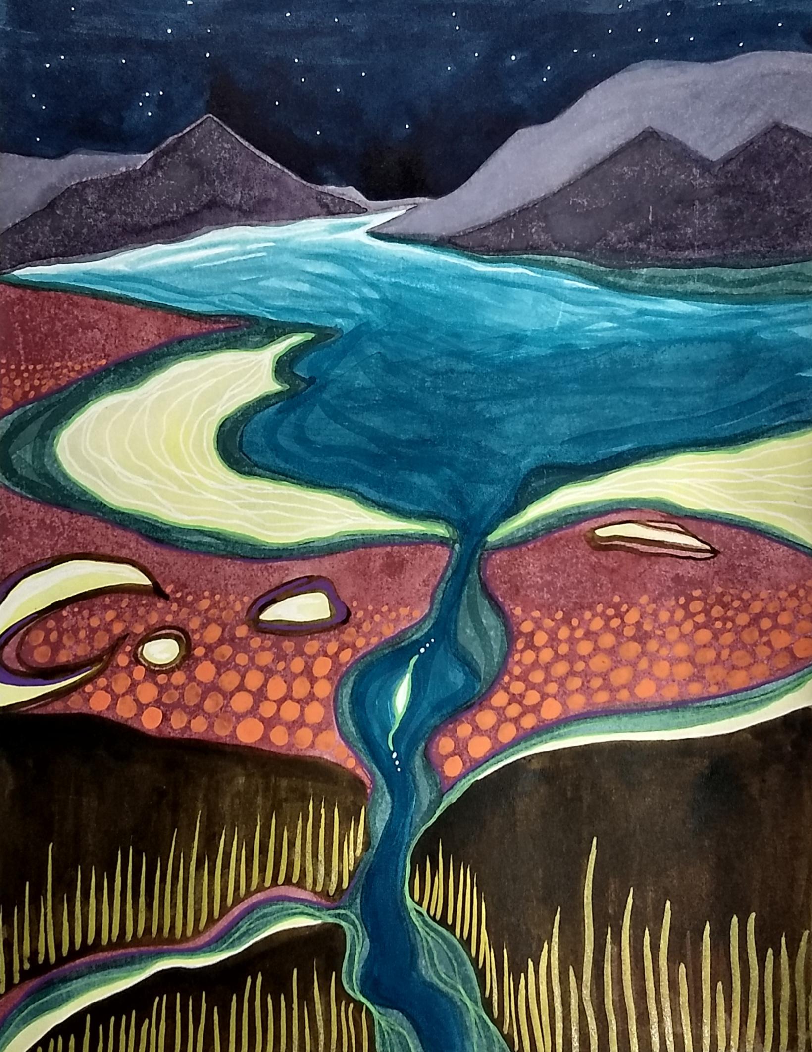 dreamscape, mixed-media, Hali Karla