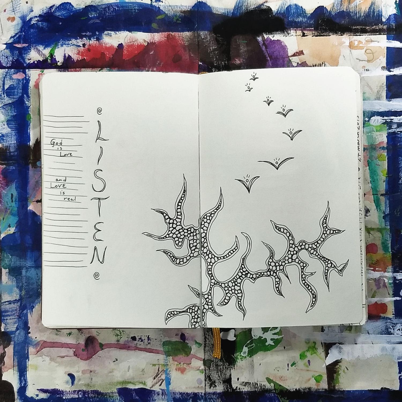 art journal meditation, Hali Karla Arts