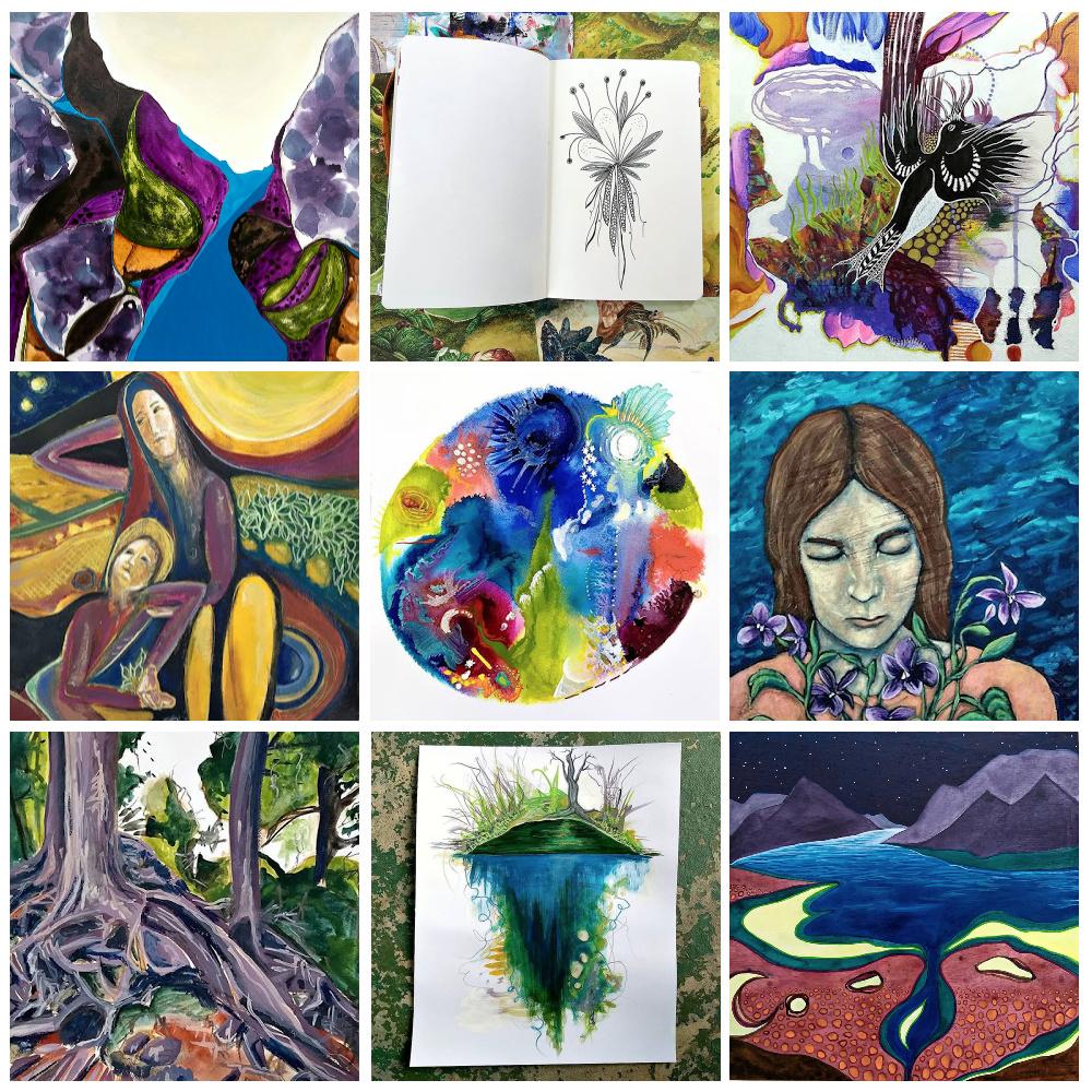 my top nine from my creative process - Hali Karla Arts