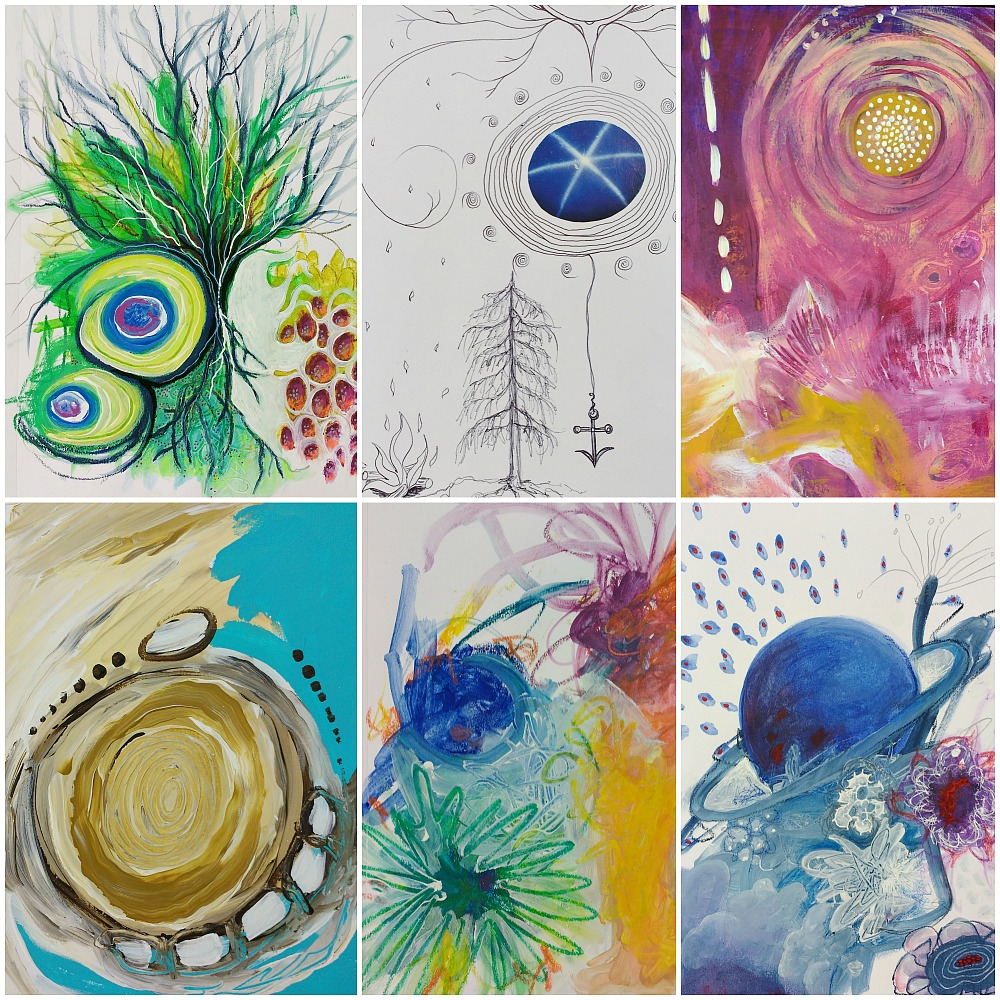 details from intuitive Creative Practice art journal