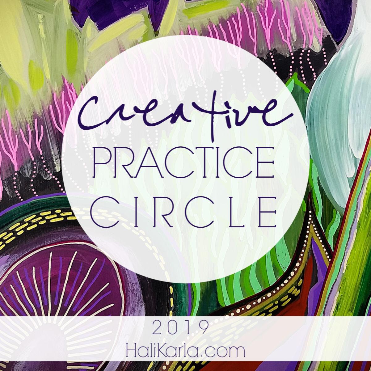 Creative Practice Circle community with Hali Karla Arts