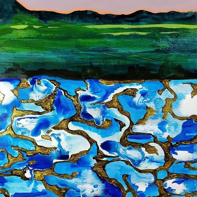 landscape study, mixed-media, Hali Karla