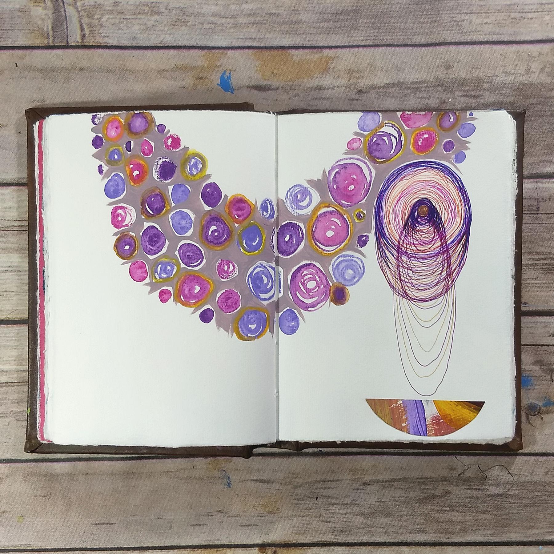 dream-catching, art journal creative practice, Hali Karla Arts