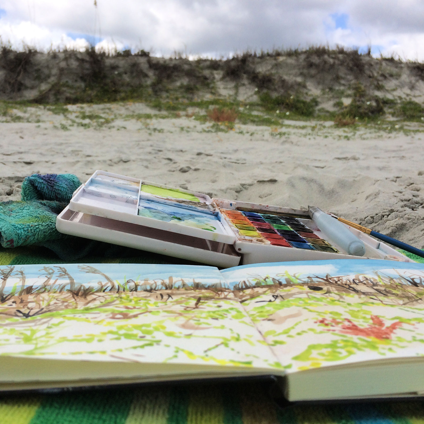 i share some of my favorite art supplies for taking creative practice outside in this post (Hali Karla Arts)