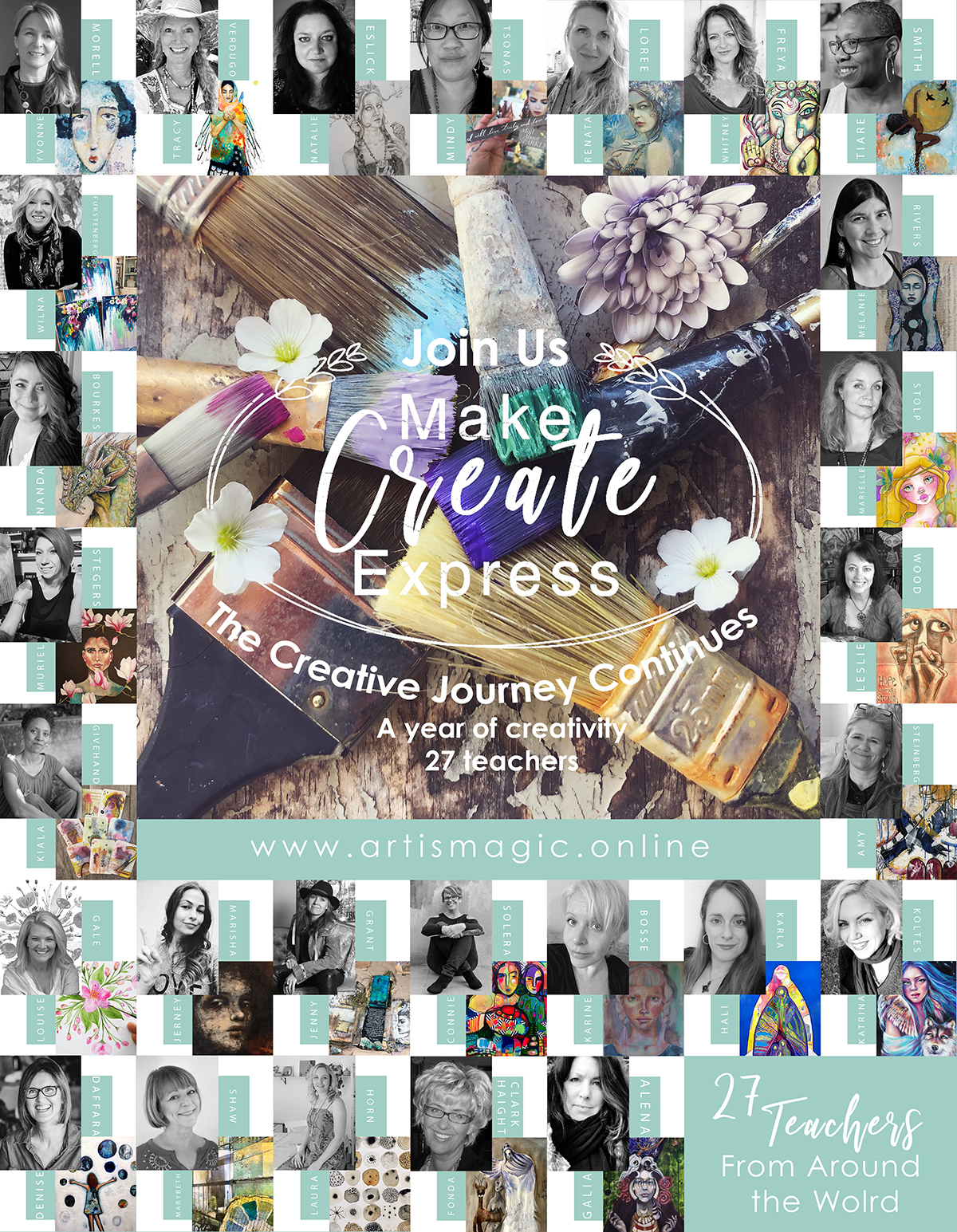 Make create Express mixed-media online creative journey kicks off with 27 FREE lessons - come sign up
