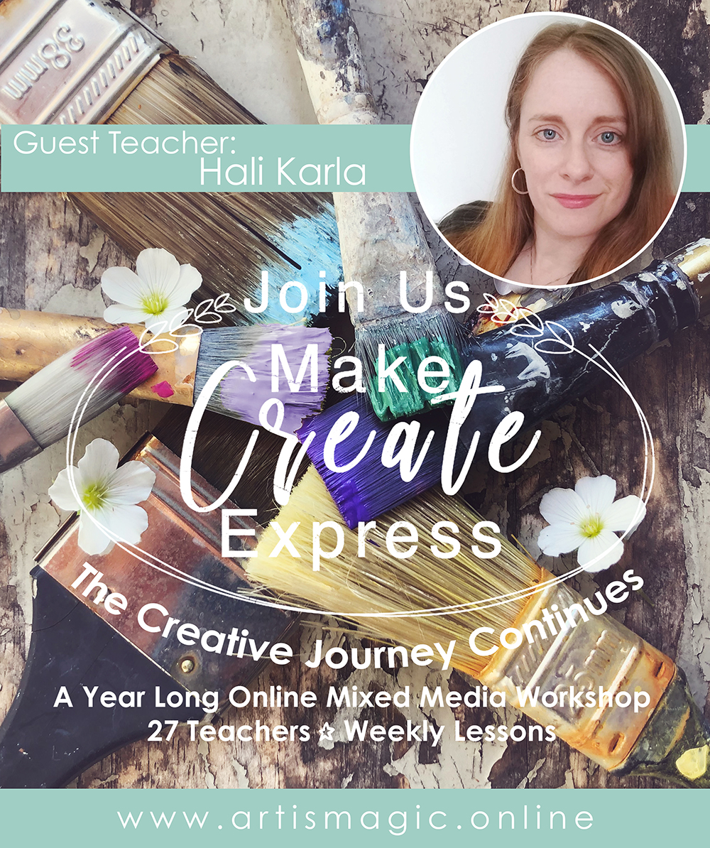Make Create Express with mixed-media lessons from 27 worldwide art teachers - Join Us today!