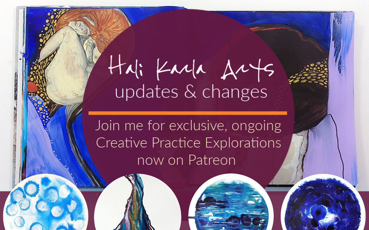 Creative Practice lessons, explorations, circles and more on my new Patreon - join us