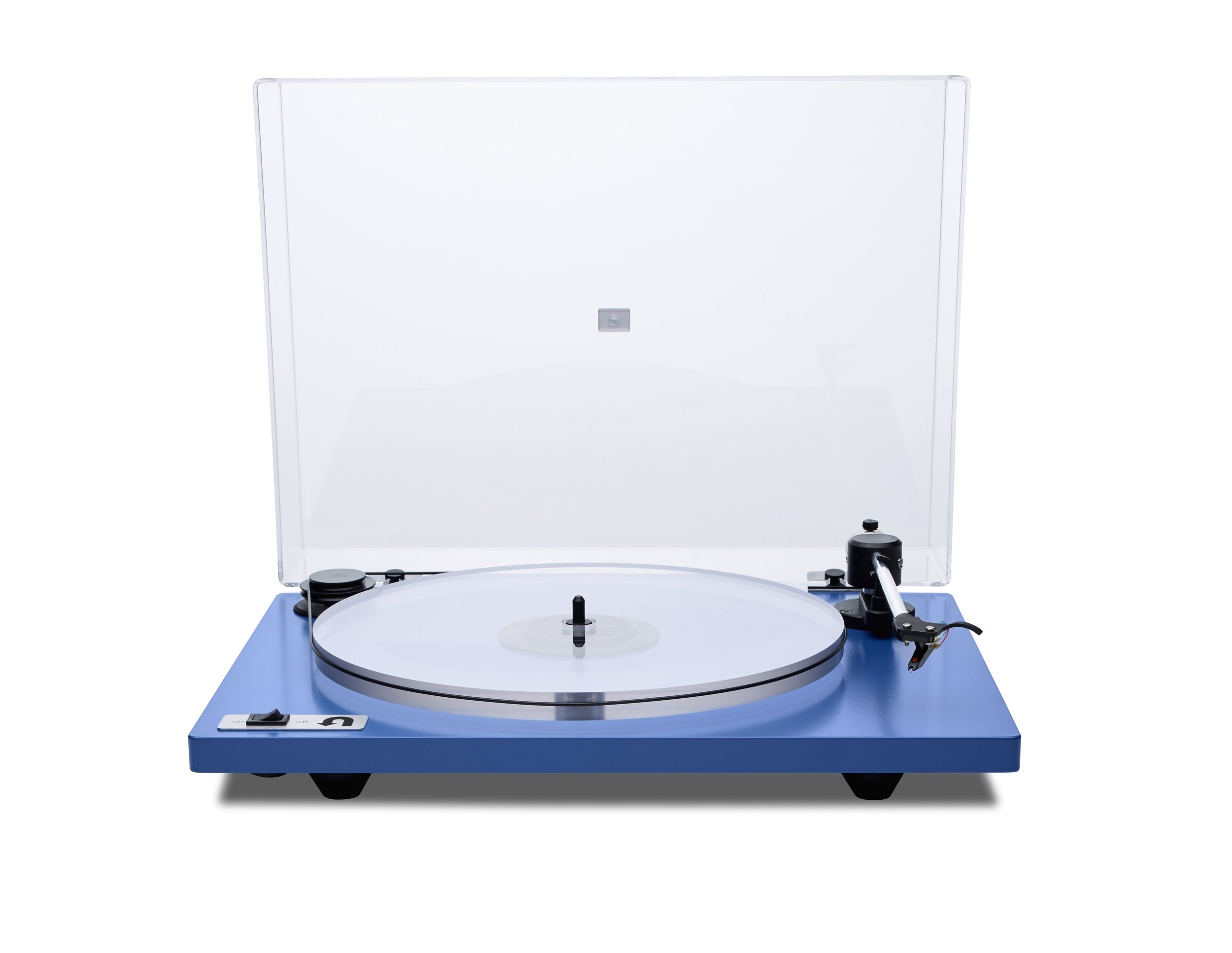 ORBIT PLUS - BLUE ACRYLIC PLATTER ORTOFON OM5E CARTRIDGE DUST COVER w/amp $359 w/amp $359 wo/amp 309