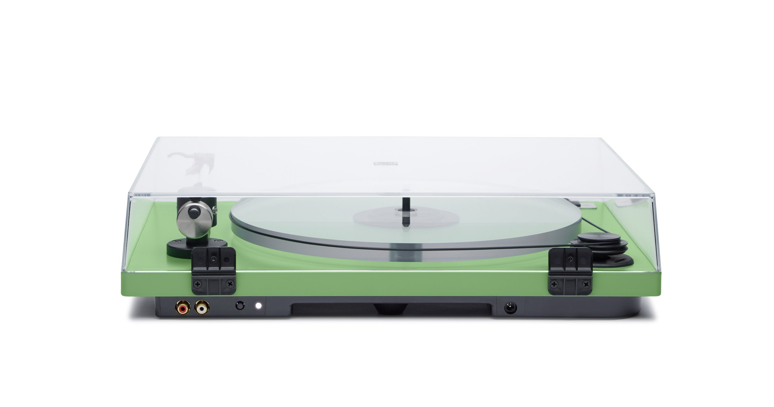 ORBIT PLUS - GREEN ACRYLIC PLATTER ORTOFON OM5E CARTRIDGE DUST COVER w/amp $359 wo/amp 309