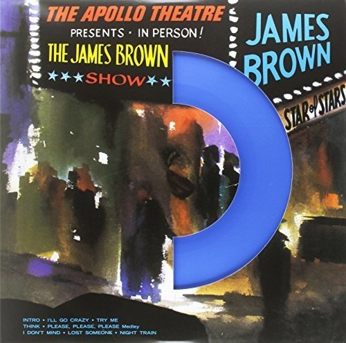 JAMES BROWN - THE APOLLO THEATRE PRESENTS $20 blue vinyl 180 gram vinyl @ 2016 Vinylogy