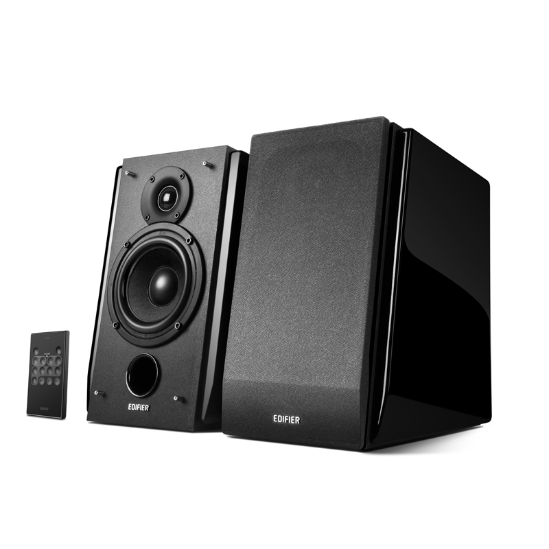 Edifer - R1850DB Bluetooth Wireless/Wired Bookshelf Speakers - Black $209
