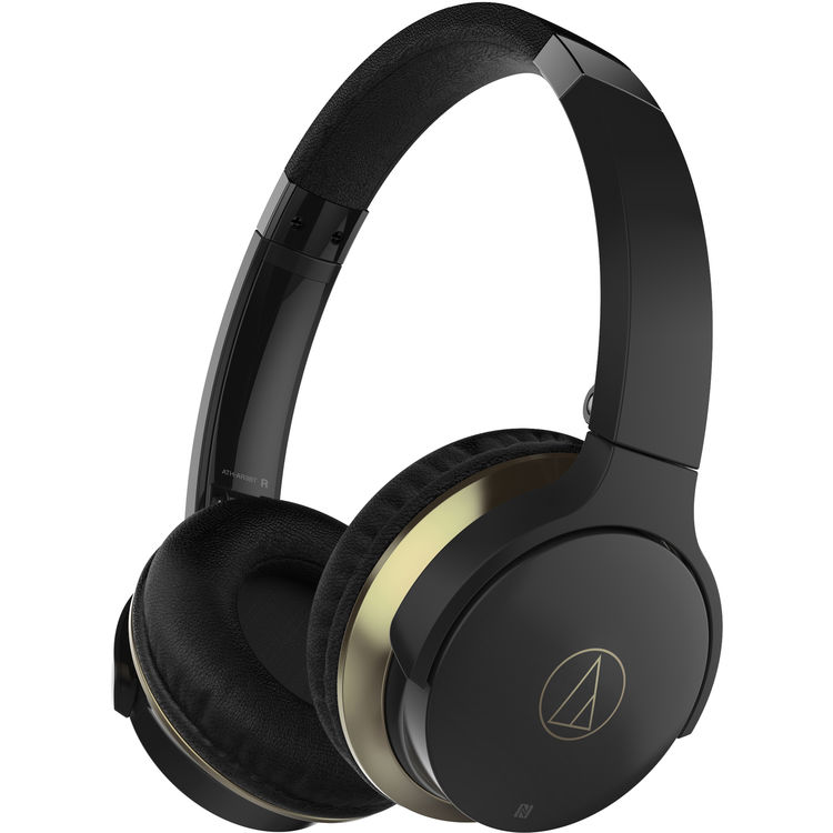 Audio Technica ATH-AR3BTBK - SonicFuel Wireless Headphones with In-Line Mic and Control - Black $105