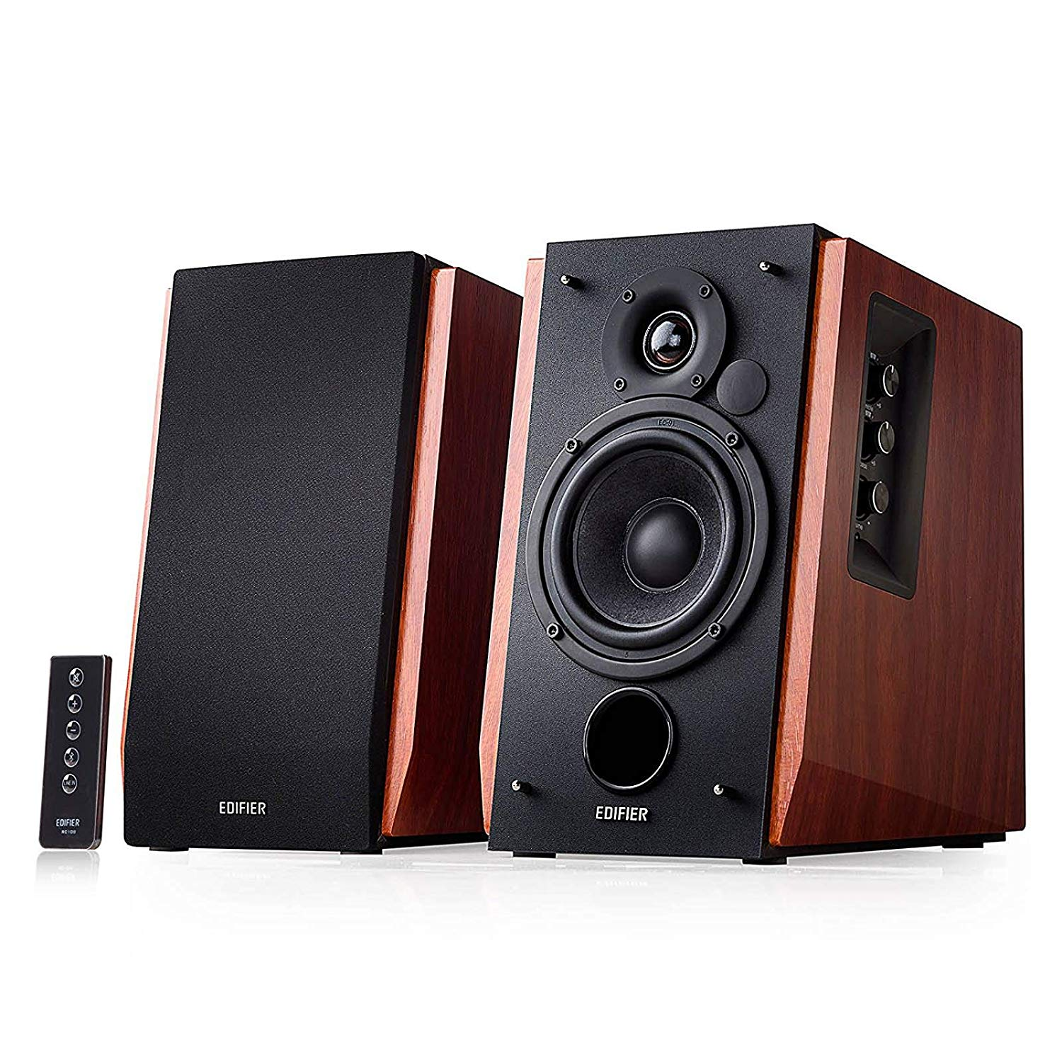 Edifier - R1700BT Bluetooth Wireless/Wired Bookshelf Speakers - Wood $158