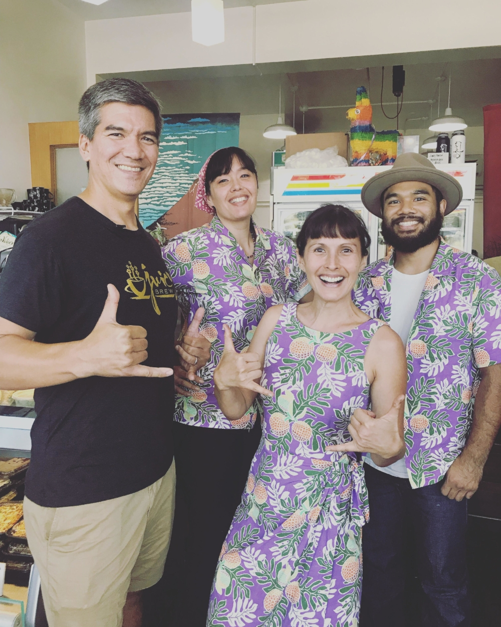 Juicy Brew crew (left to right): Dr. Kiki Blum, Christina Hee, Jennifer Hee, RJ Abad