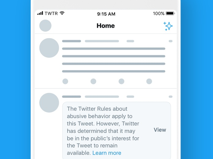 Twitter Adds Warning Label for Offensive Political Tweets - Aarti Shahani