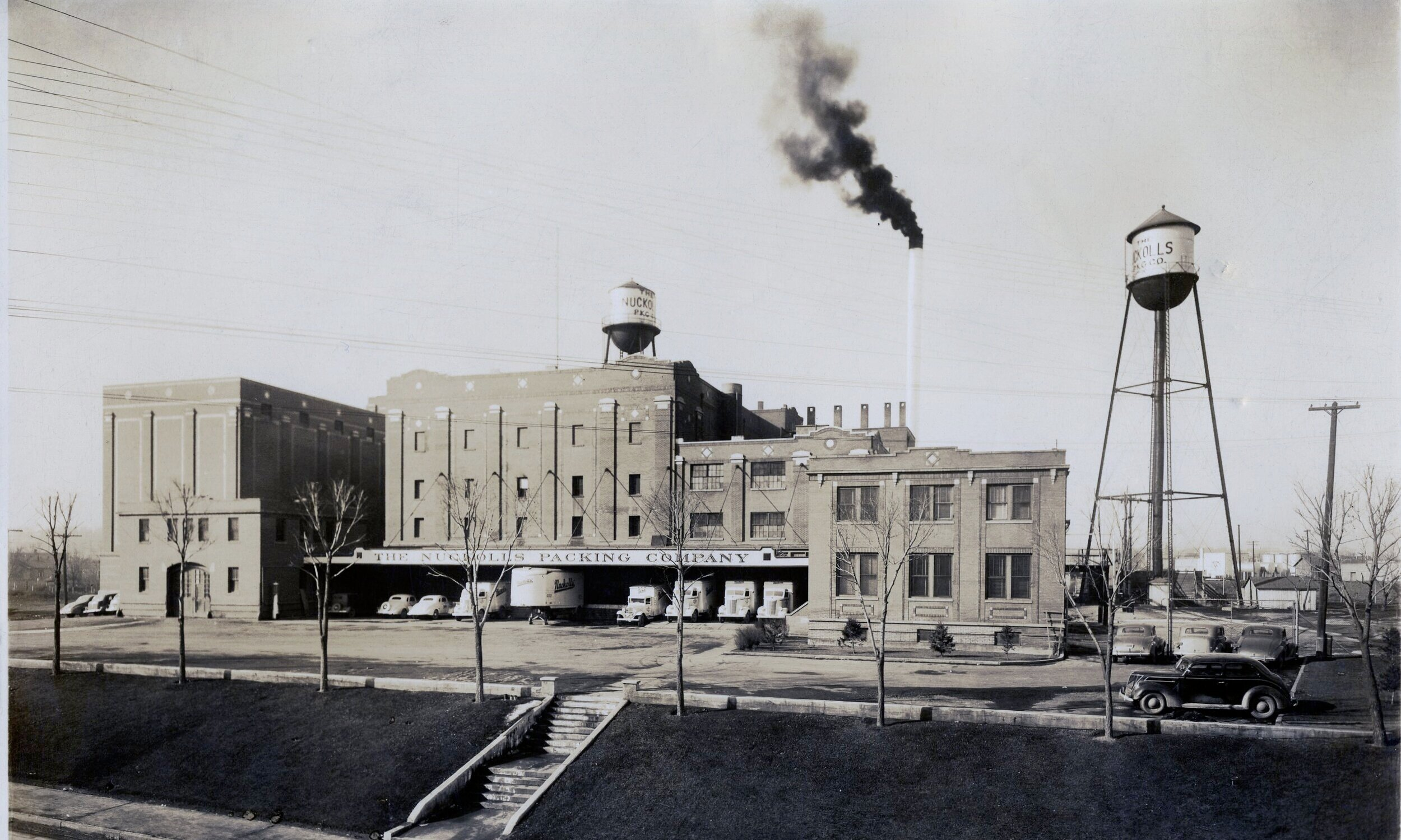 The Nuckolls Packing Company in January 1940. Photo courtesy of Mark Williams (grandson of Marion Nuckolls.)
