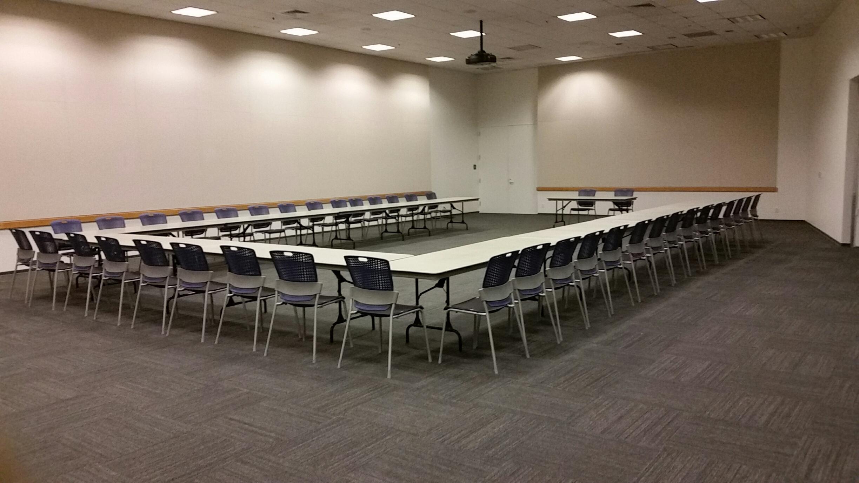 Tassajara Room. U-Shape Seating for up to 70 people.