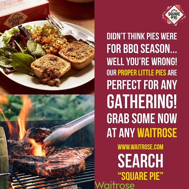 #bbq #pieparty #spinachgoatscheesesweetpotato #sharing #foodlove #social #eating #pies #heathierchoice #squarepie #properlittlepies #frozenfood #stockupfreezer #neverrunout #waitrosefood #waitrose #availableinwaitrose