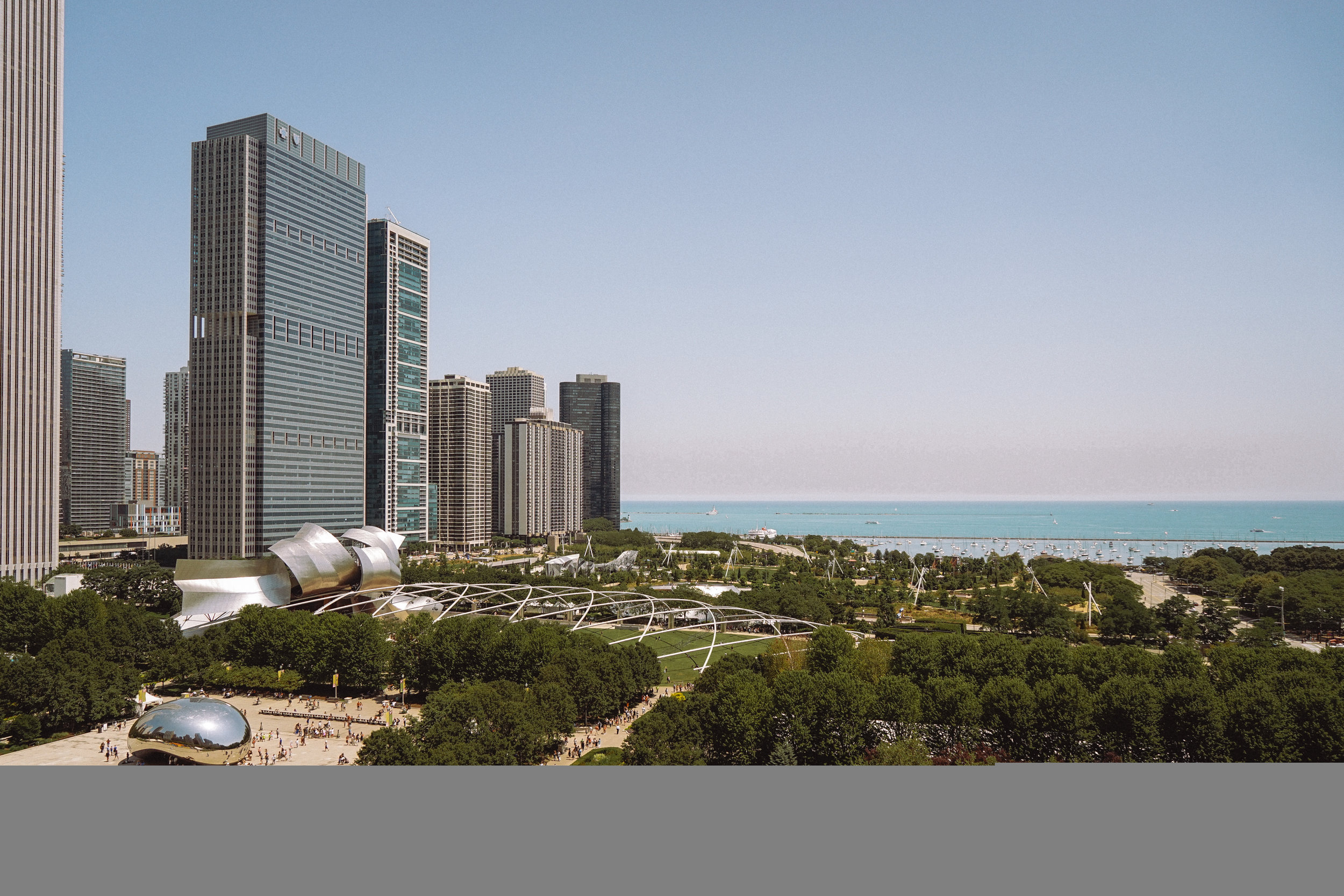 Rooftop View of Millennium Park in Chicago