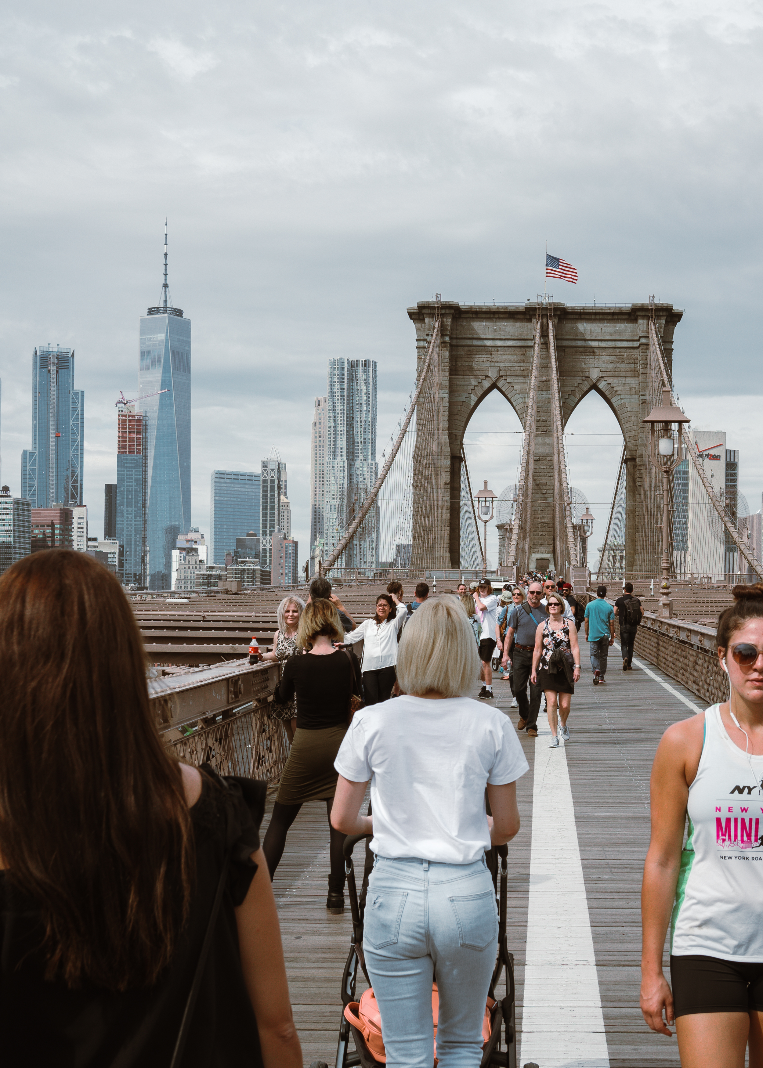 Walking The Brooklyn Bridge with a toddler