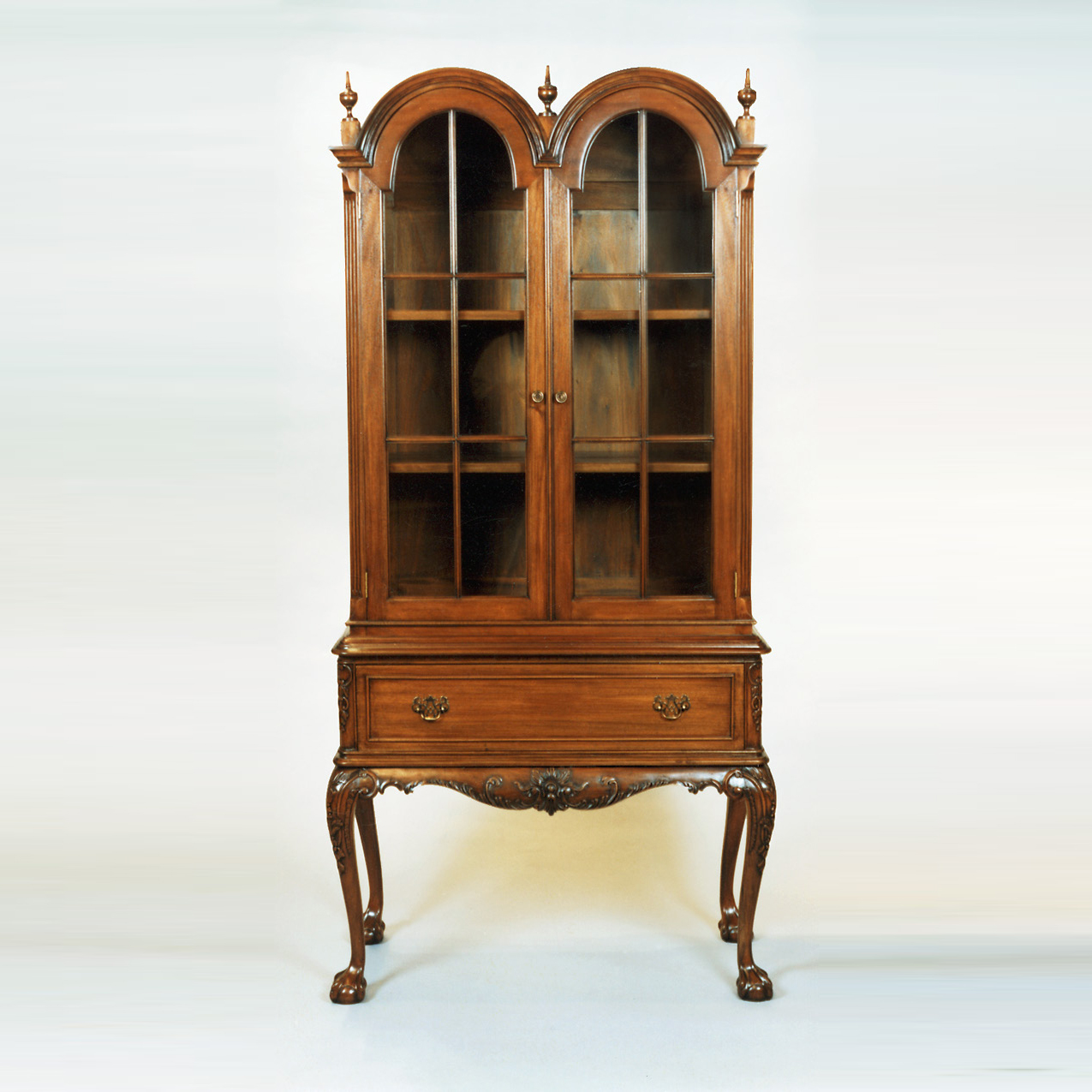 CA001 - Dome Top Chippendale Display Cabinet