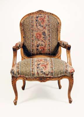 CH1673 - Louis XV High Back Chair