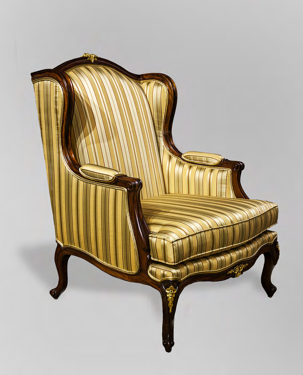 CH2078 - Louis XV Wing Back Chair