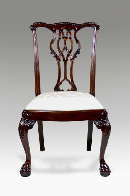 CH001S - Carved Westminster Chippendale Side Chair