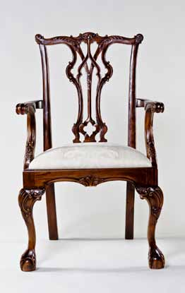 CH003A - Wharton Chippendale Arm Chair