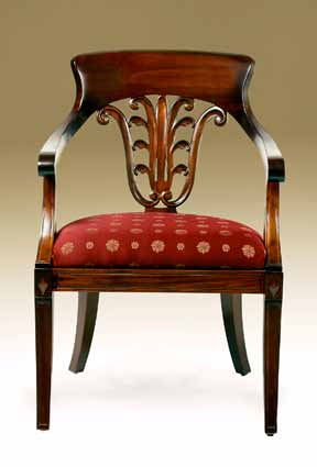 CH413 - Leafback Arm Chair