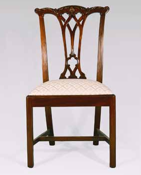 CH417S - Gothic Chippendale Straight Leg Side Chair