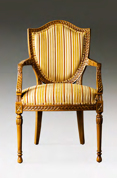 CH1015A - Carved Hepplewhite Arm Chair