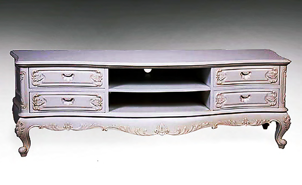 CA301ETM - Carved Louis XV Entertainment Console