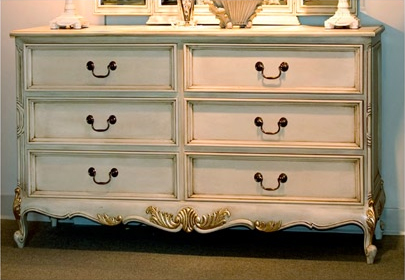 CA390C-6 - Louis XV Style Six Drawer Chest