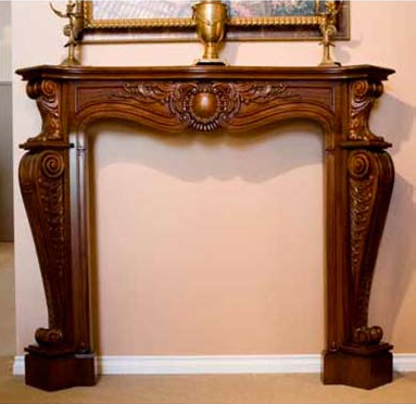 F5627S - Carved Louis XV Mantle