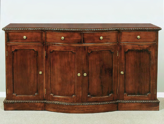 CA331 - Hand Carved Chippendale Bowfront Sideboard