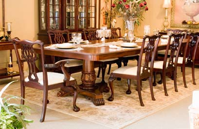 TA417DP - Double Pedestal Empire Style Dining Table